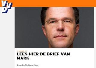 Rutte'nin seçim afişi