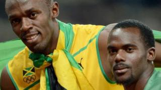 Usain Bolt na Nesta Carter