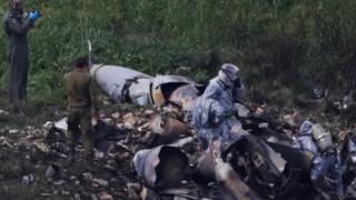 Sitio del choque del F-16 israelí, febrero 10 de 2018
