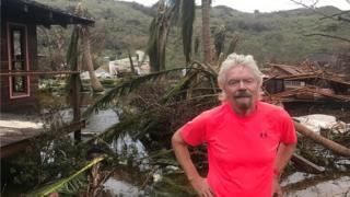 Richard Branson, Hurricane Irma Wrecks