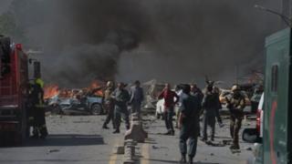 จุดเกิดเหตุระเบิดใกล้กับสถานทูตหลายแห่งและทำเนียบประธานาธิบดี