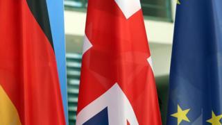 German, UK and EU flags