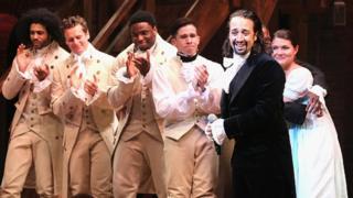 The cast of Hamilton musical