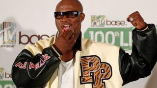 Musical artist Mandoza poses backstage during 'MTV Base 100th Live!' at the Ster-Kinekor Top Star Drive-In on April 20, 2005