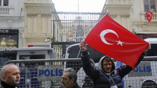 Hollanda'nın İstanbul'daki konsolosluğu önünde hafta sonu protesto vardı