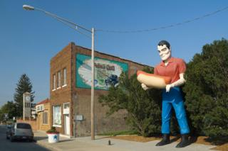 Illinois, Route 66, Atlanta, Bunyan's Statue (a Route 66 'Giant'/Muffler Man)