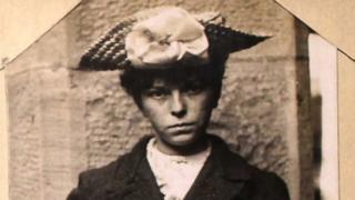 Archive mugshot of a woman