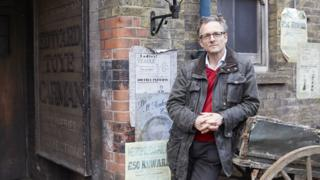 Michael Mosley on set of The Victorian Slum