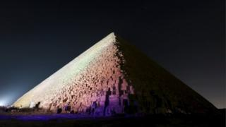 The Great Pyramid, or Pyramid of Khufu, the largest of the pyramids of Giza, is pictured on the outskirts of Cairo, Egypt, 9 November 2015