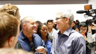 Jony Ive, Apple's chief designer, with Tim Cook, Apple CEO