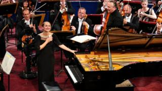 Anna Tcybuleva at the Leeds International Piano Competition