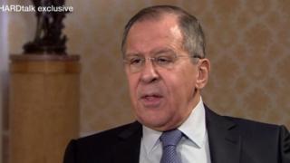 俄罗斯外长拉夫罗夫接受BBC独家专访表示,叙利亚化学武器攻击证据来自媒体报道。