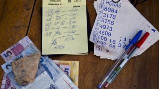 Material de banca de apostas do jogo do bicho