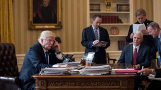 Trump akiongea Putin kwa njia ya simu