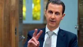 巴沙尔·阿萨德指责西方制造了在叙利亚城镇汉谢洪发生的事件