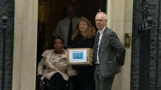 Petition handed in at Downing Street