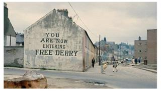 Bogside in Derry, 1972