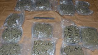 Herbal cannabis worth an estimated £300,000 was seized in Lurgan, County Armagh