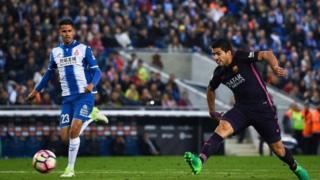 Lius Suarez ya ci kwallayensa ne saboda kuskuren da 'yan wasan Espanyol suka yi