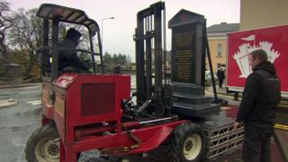 Enniskillen bomb memorial being removed