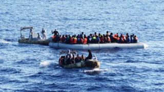 лодки с мигрантами