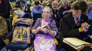 Activists at the UKIP conference in Bournemouth