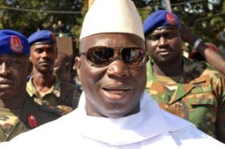 Jammeh ayaa 22 sano ka soo talinayay dalka Gambia