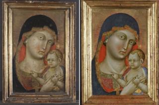 Virgin Mary and Christ by Italian Renaissance artist Pietro di Niccolo da Orvieto