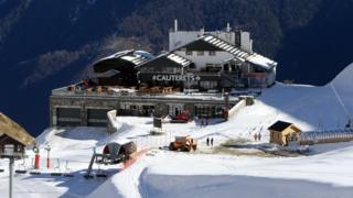 Cauterets resort in the Pyrenees mountains of France