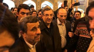 احمدینژاد و مشایی در شاه عبدالعظیم