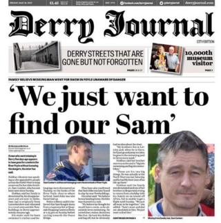 Derry Journal front page, 19 May