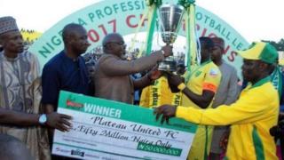 Karon farko da Plateau United ta ci kofin Firimiyar Nigeria, Mighty Jets ta taba dauka a 1972