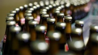 German beer bottling plant