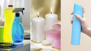 Cleaning products; scented candles; air freshener