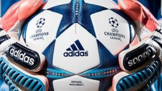 Adidas logo on football