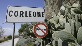 Corleone road sign