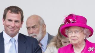Peter Phillips and the Queen at the Patron's Lunch
