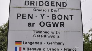 Photo of Bridgend sign