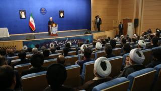 """حسن روحانی در مراسم """"تجلیل از خادمان قرآنی"""""""