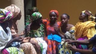 Wasu daga cikin 'yan matan Chibok da suka kubuta