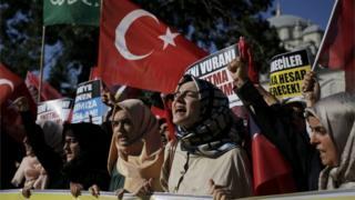 Ato pró-Erdogan em Istambul (16/07/16)