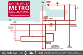 Labour north Wales metro map