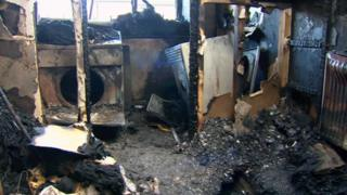 Fire damage at a Welsh property blamed on a tumble dryer