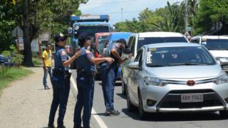 Mindanao'da polis kontrol noktası