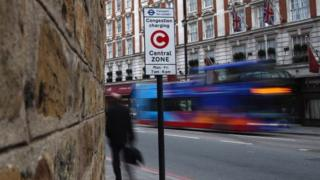 Congestion charge sign