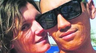 گفته شده املین کالورول و نامزدش ایرنا هر دو در امارات مشغول به کارند و آنجا با هم آشنا شدند