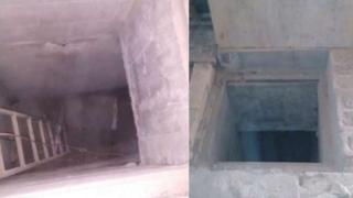 Tunnel with ladder found in a Mexican prison