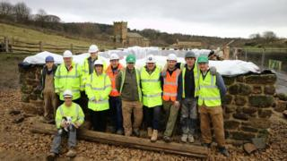 Construction team at Beamish