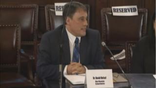David Helsel testifies at hearing. Screengrab of him providing evidence