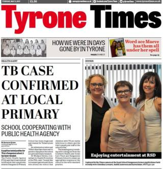 Front page of Tyrone Times